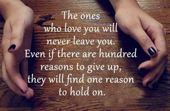 one reason to hold on