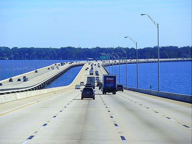 I-295 Bridge just south of city of St Augustine. Just another mile marker on the journey.