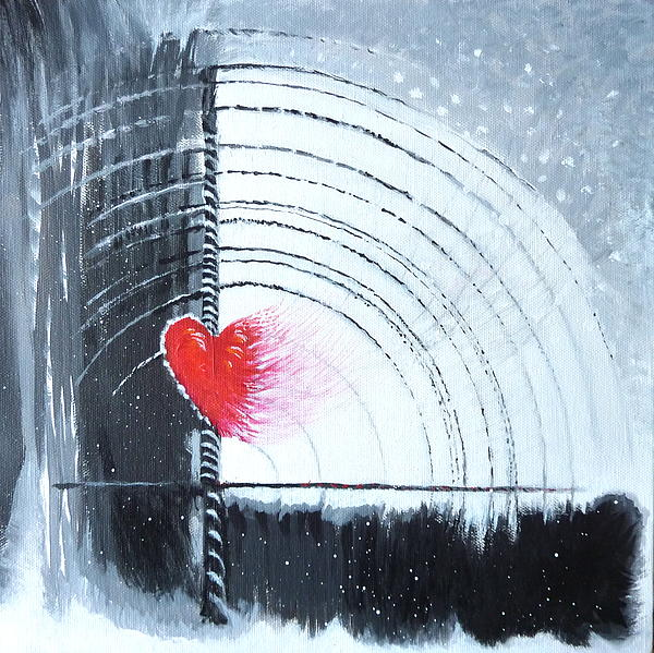 "Original Art by Julia Miller Title of piece, ""Winter Love"" Clicking image takes you to her page."